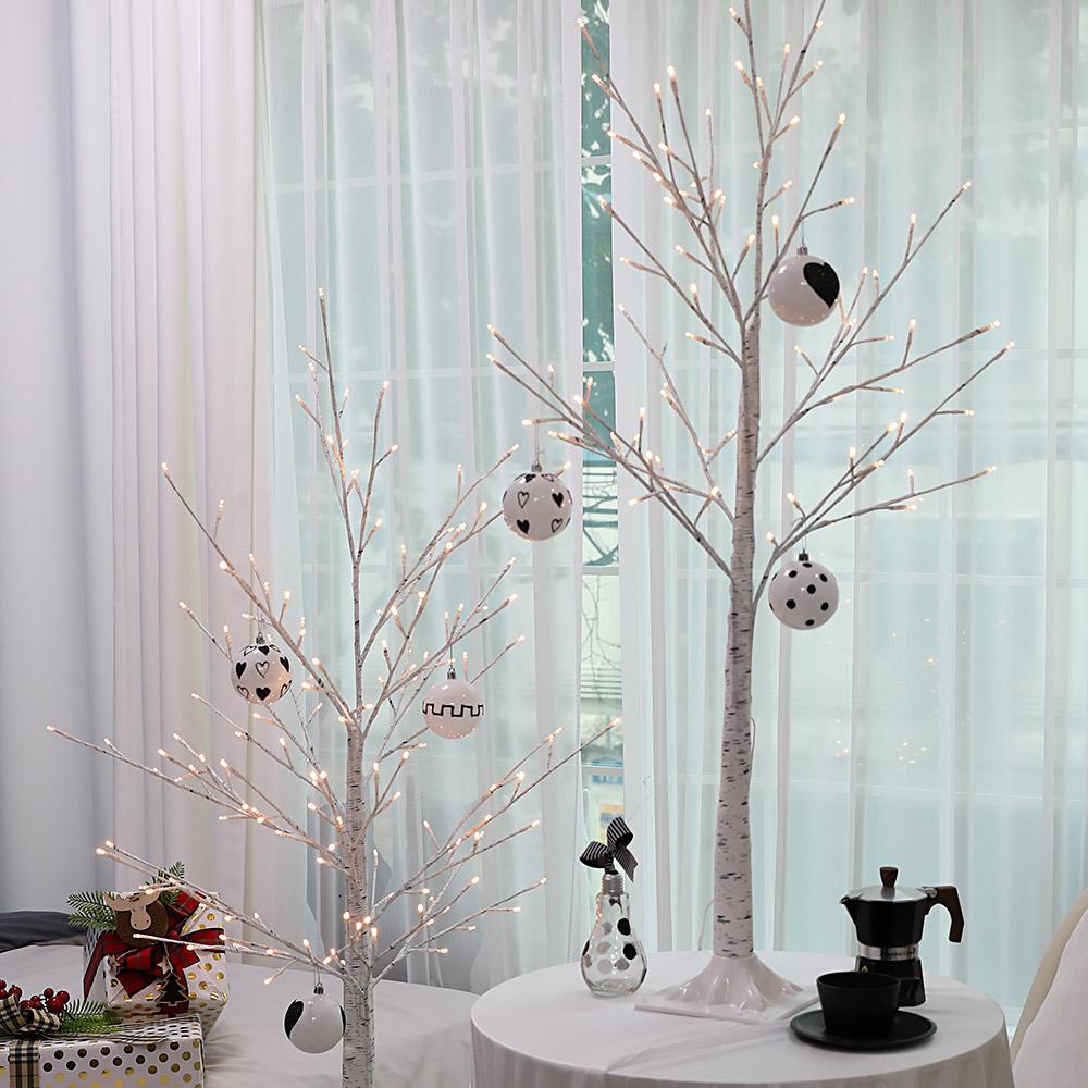 조아트 크리스마스트리 자작나무트리 LED 감성트리 화이트 특별한트리 인조나무, 감성트리 화이트자작나무 1.6M