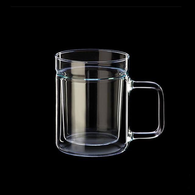 시맥스 이중유리컵 내열유리 머그컵 맥주잔 2개, 단일색상