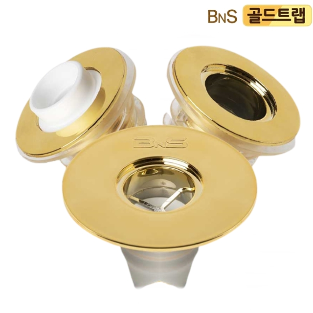 BNS 골드트랩 배수구왕 하수구 배수구트랩 악취 냄새차단 씽크대마개, 1세트_(3종)