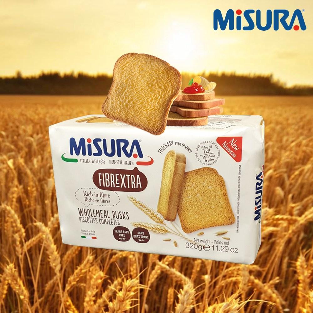 MISURA 미주라 토스트비스켓, 320g, 3팩