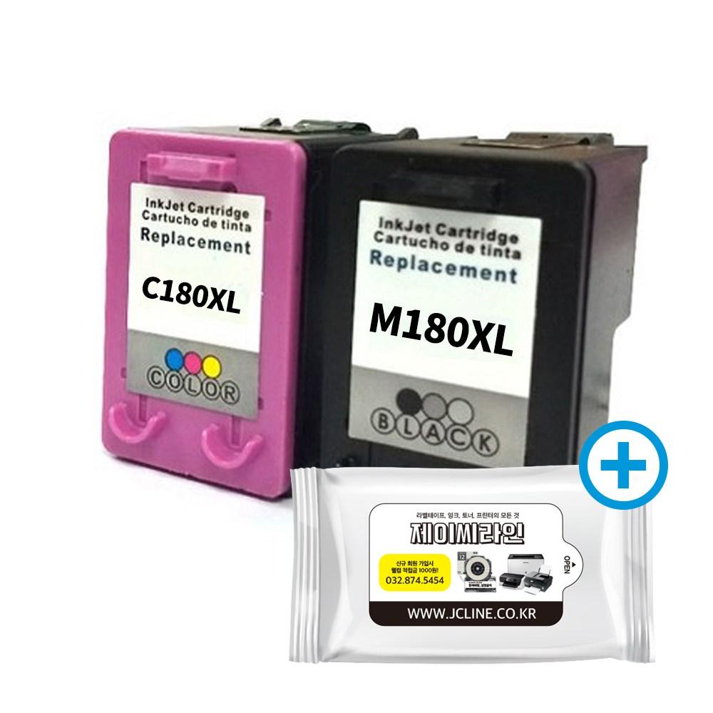 삼성전자 SL-J1660 프린터기 복합기 잉크젯 옵션선택 / 정품잉크 포함 용지A4증정 오늘출발 / 삼성 잉크 INK-M180 C180, 재생INK-M180XL+C180XL2색세트+항균물티슈