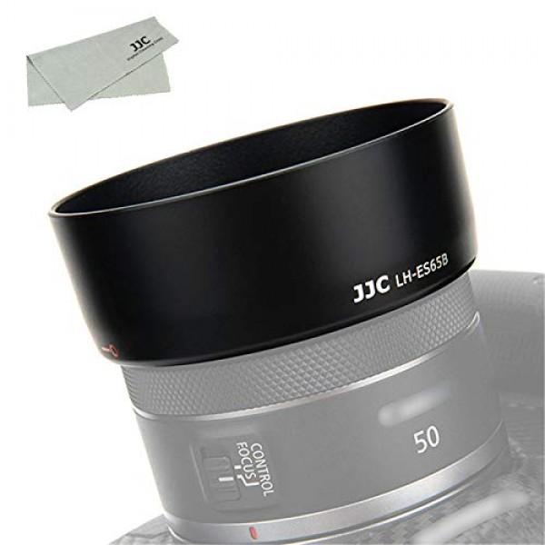 JJC ES-65B レンズフード Canon RF 50mm F1.8 STM レンズ 用 キヤノン EOS R5 R6 R RP カメラ に対応 ES-65
