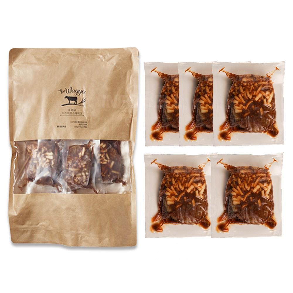 애드크로스 호주산 소고기 더 와규 치즈비프 스테이크 170g x 5팩, 01_단품