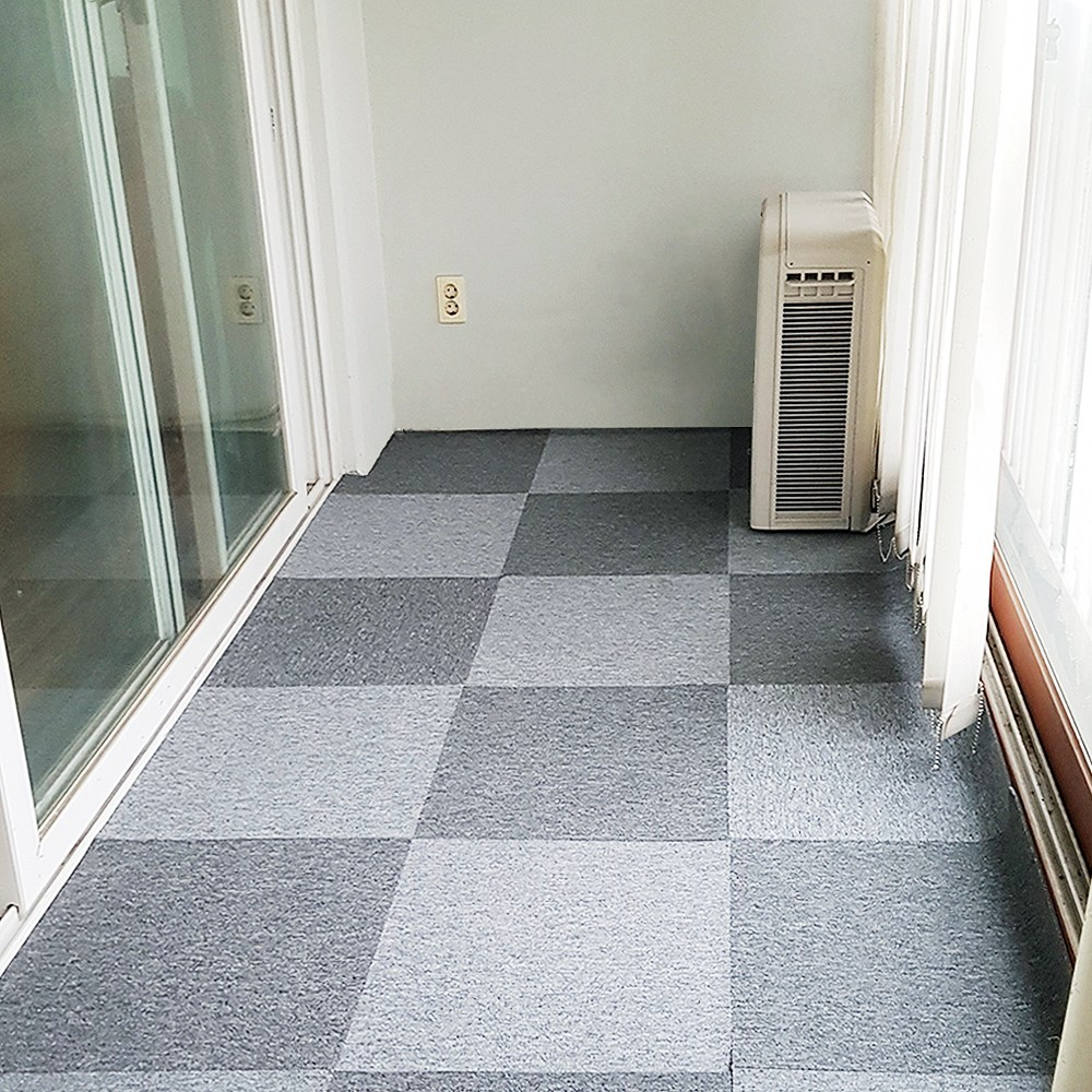 베란다만들기 타일 카페트 DIY 바닥재 (50cm x 50cm), 1장, 진회색