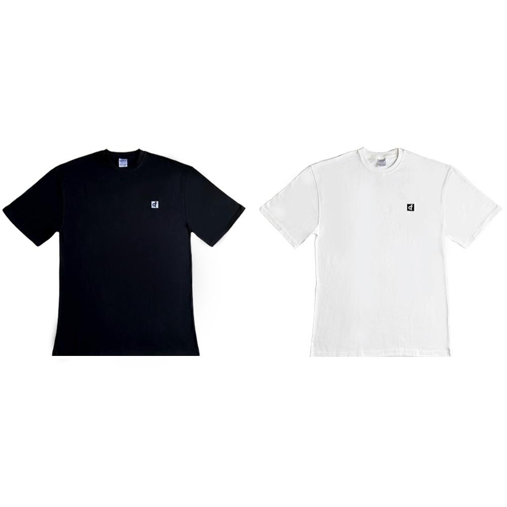 쿼터핏 KMO-01 오버핏 패치로고 짐웨어 반팔 티셔츠