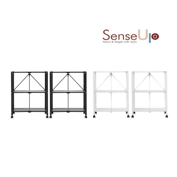 센스업 3초 접이식 폴딩 선반 3+3단 세트(블랙/화이트 택1), 화이트