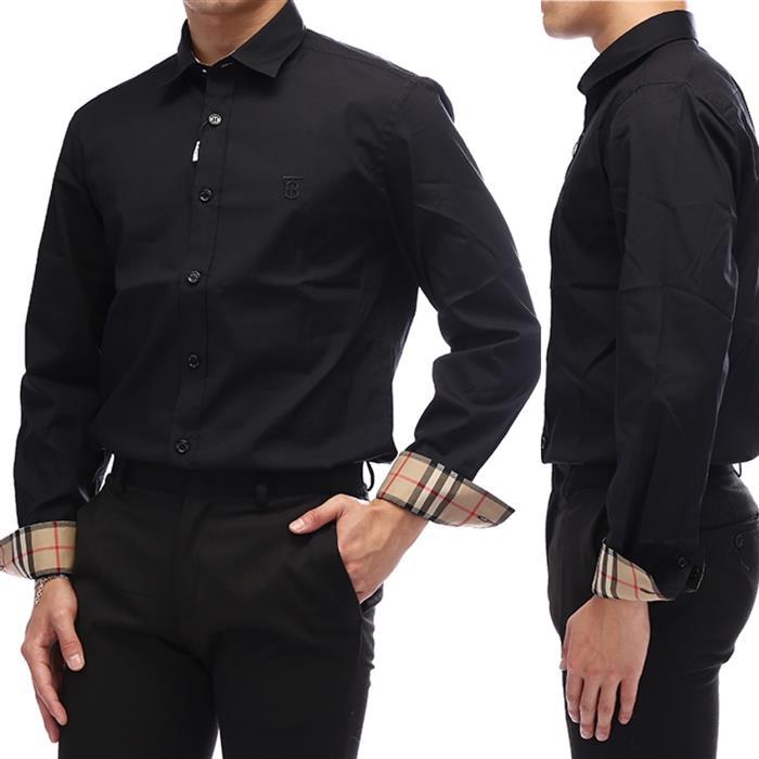버버리 20FW 블랙 로고 자수 포플린 셔츠 8032305-21-2041635367
