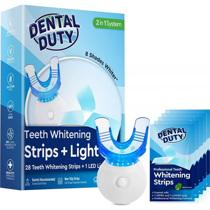 14 미끄럼 방지 Whitestrips & 완벽 하 게 하얀 치아에 대 한 미 백 가속기 빛 치아 미백 키트 효과적인 커피 및 담배 얼룩 제, 1
