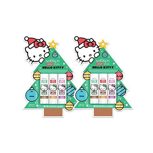Softlips Limited Edition Hello Kitty Natural Lip Balm - Chocolate Mint Gingerbread Sugar Plum 0.15, 단일상품, 단일상품