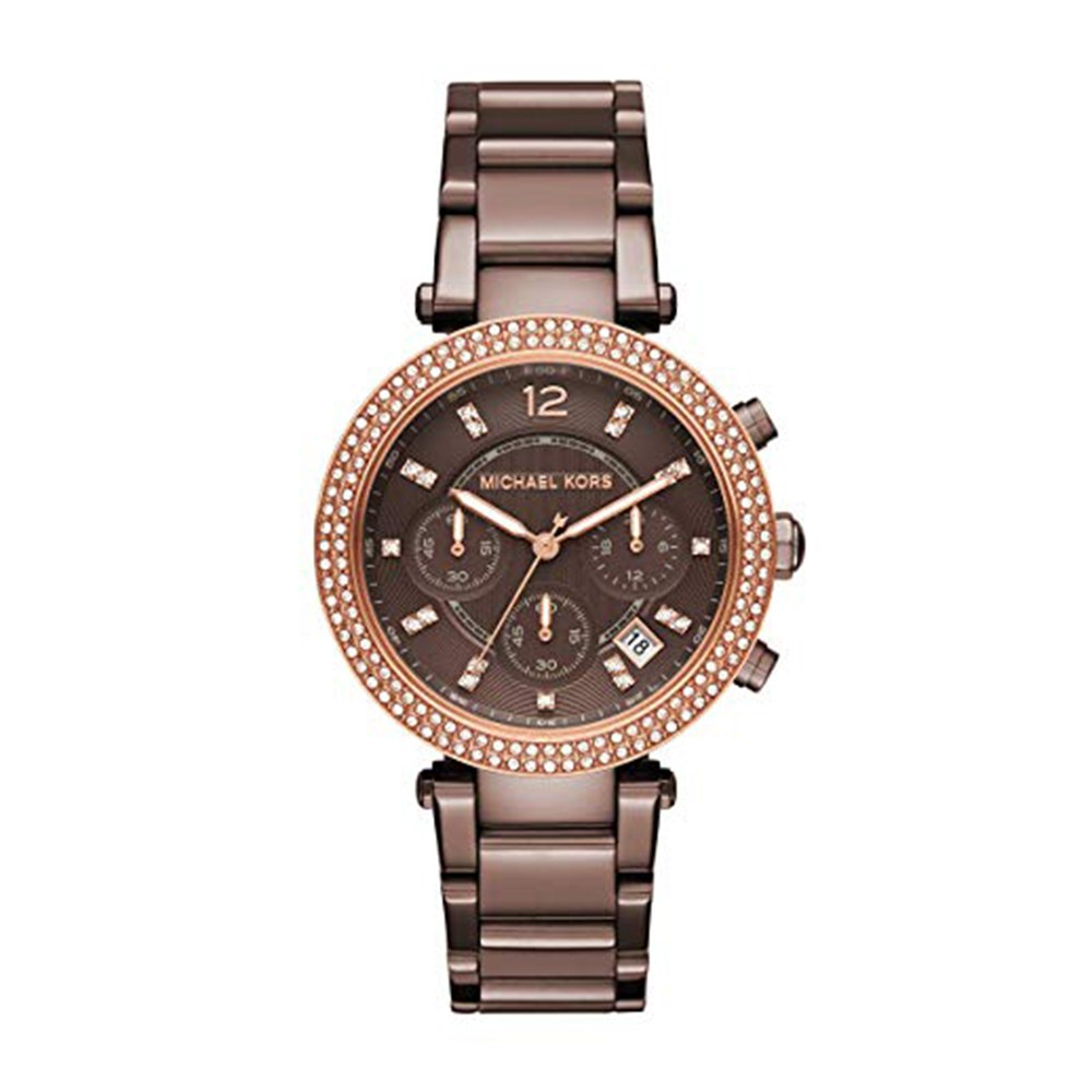 마이클코어스 우먼스 파커 시계 브라운 MK6378
