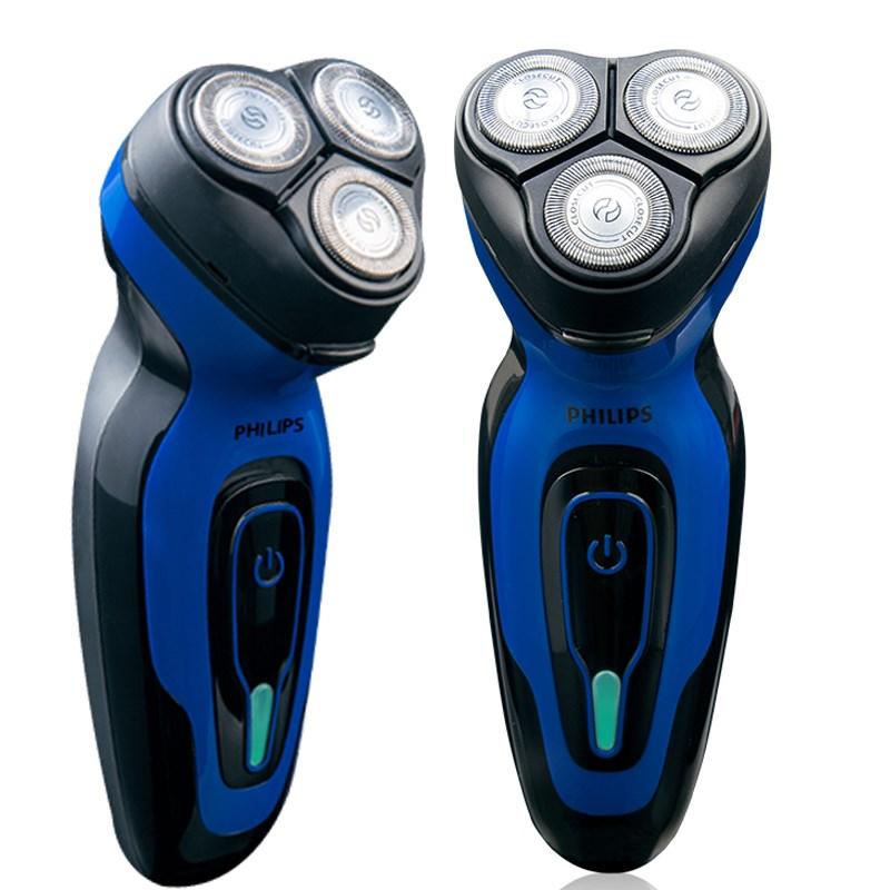 필립스 전기 면도기 남성용 충전식 3 헤드 면도기 헤드 세척기 YQ6008, YQ6008 표준