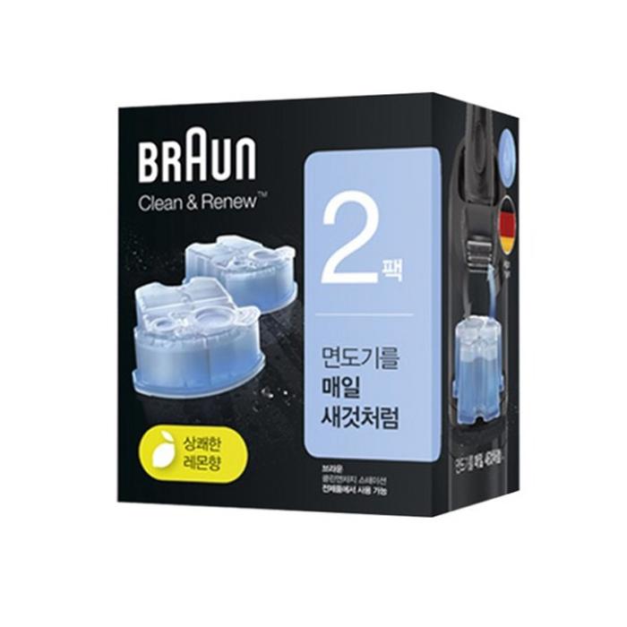 BRAUN 클린 앤 리뉴 면도기 세정액, CCR (2개입)