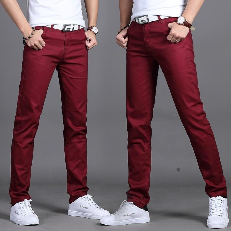 남자바지 여름시즌 남성 바지 캐주얼바지 순면 젊은느낌 슬림핏 일자핏 남성복 학생 얇은타입 유행
