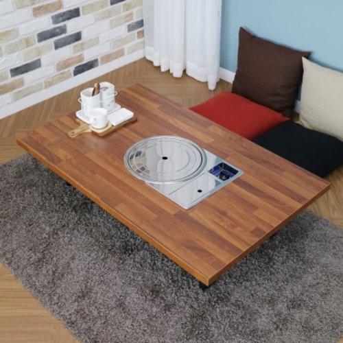 [텐바이텐] 가정용 접이식 불판테이블 1200 김건모테이블 2가지 패턴, 멀바우