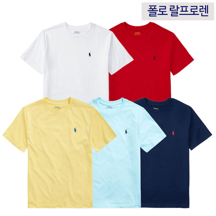 polo ralphlauren 남녀공용 주니어 크루넥 반팔 티셔츠