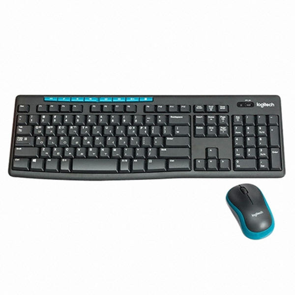 로지텍 무선 데스크탑 세트 MK275 (블랙) 키스킨 미포함 무선키보드 마우스세트, 옵션없음, 옵션없음