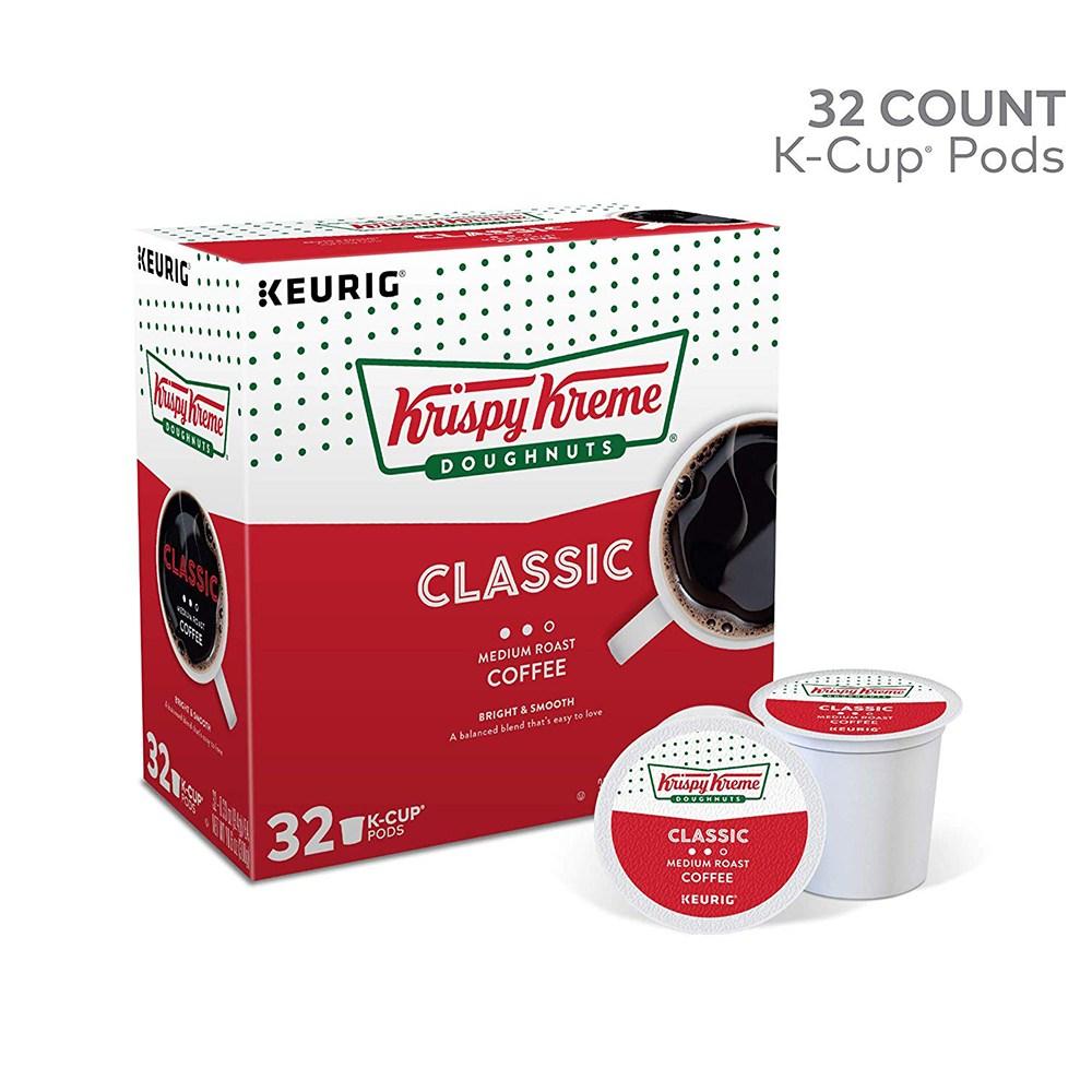 크리스피도넛 클래식 미디움로스트 커피캡슐 32팩, 단일상품