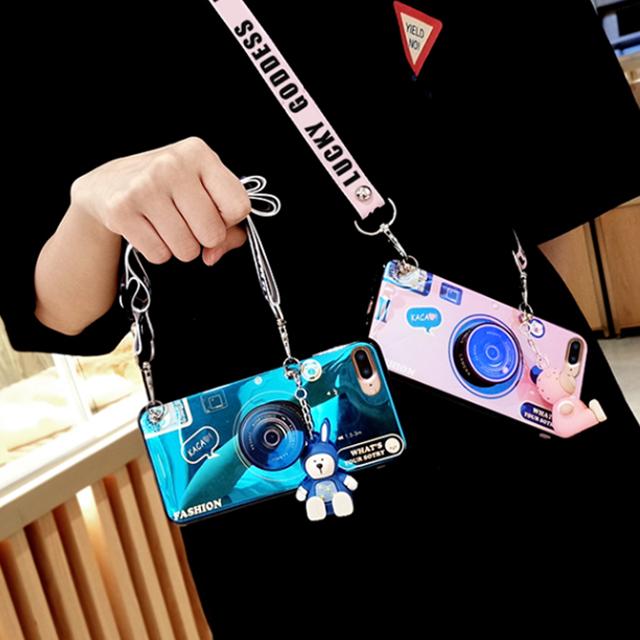 노트20 갤럭시S20 럭키 컬러 유광 카메라 렌즈 디자인 곰돌이 키링 스트랩 목걸이 스마트톡 케이스 노트20울트라 노트10 노트9 노트8 S10 S9 S8