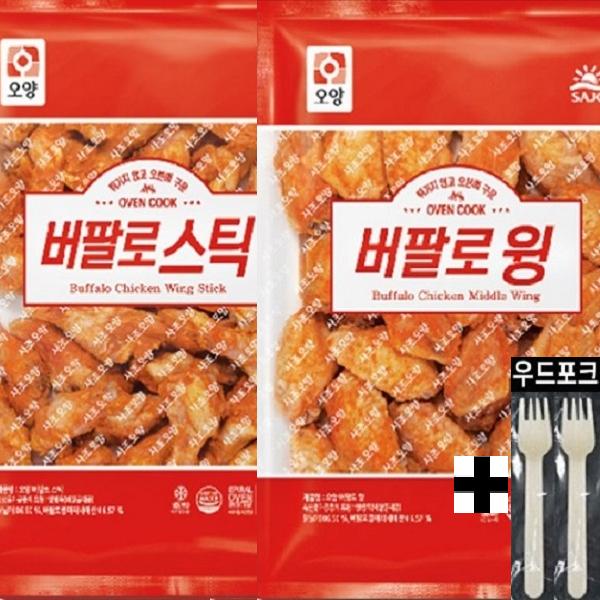 사조 오양 수입산 버팔로윙 1kg+버팔로봉 1kg, 1개