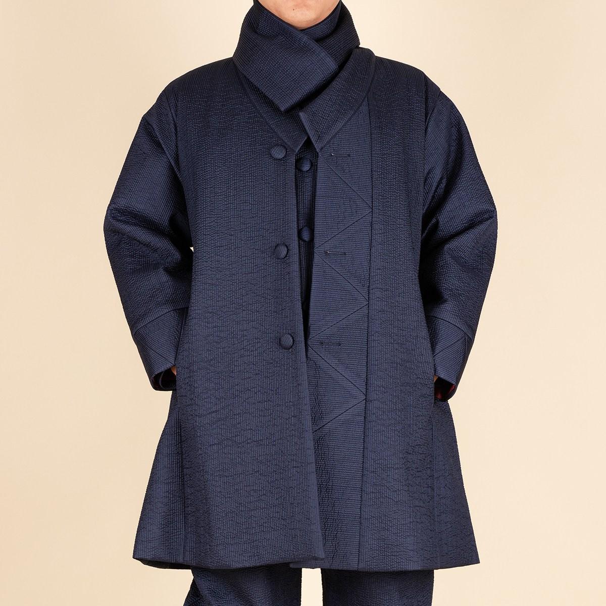 다오네우리옷 남자-해인 실크 잔골누비 두루마기 생활한복(개량한복)