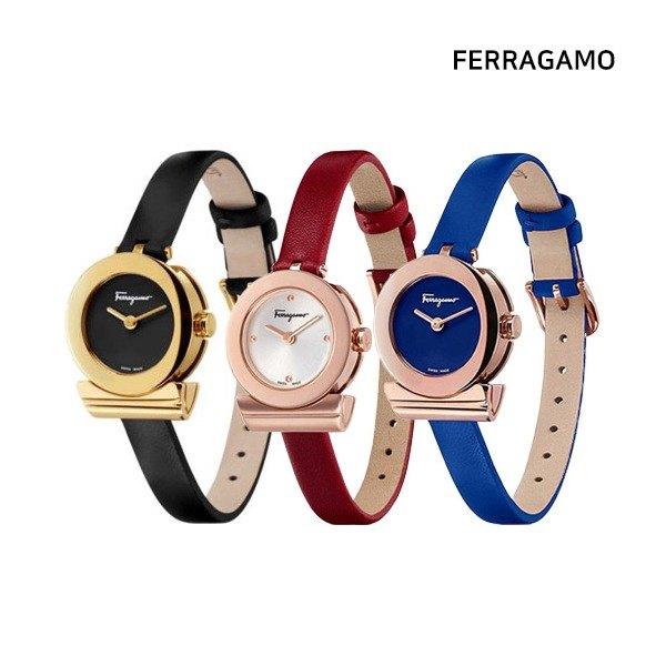 [살바토레 페라가모] FERRAGAMO 간치니 가죽 시계(SF4300118/SF430031