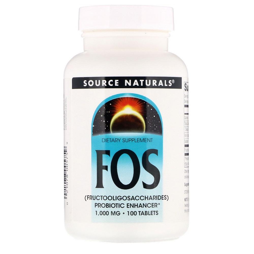 Source Naturals 소스 내츄럴스 FOS 프락토올리고 1000 mg 100 정, 1세트, .