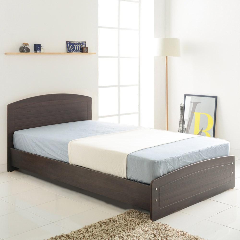 파란들 헤미쉬 일반형 침대 + 단면매트리스, 월넛