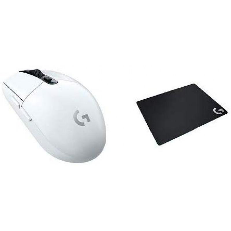로지텍 무선 게이밍 마우스 G304rWH + [PUBG JAPAN SERIES 2018 추천 기어] 게이밍 마우스 패드 G240t 크