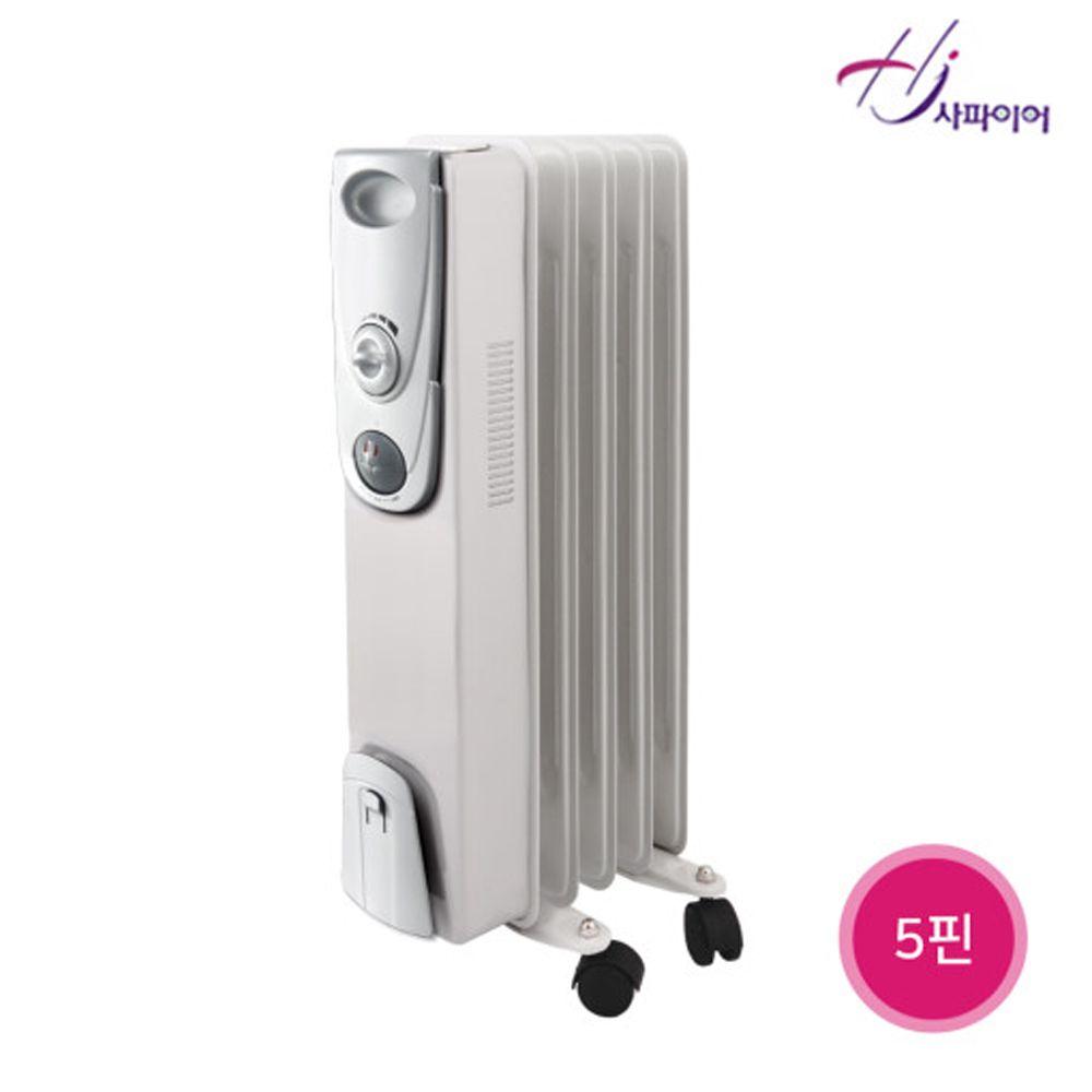 사파이어 욕실동파방지 오일형라디에이터 5핀 JSD_ST_513 전기라디에이터 전기방열기, 본상품선택