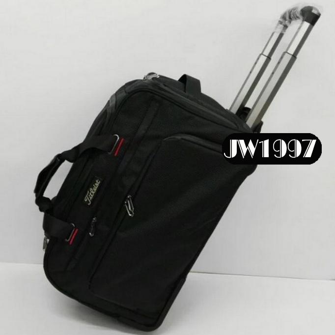 0072 골프 남성 타이틀리스트 캐리어 바퀴달린 남자 보스턴백 의류 가방, 블랙