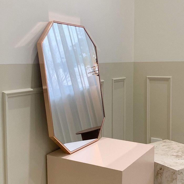 [브래그디자인] 450x600 팔각 거울 (로즈골드), 로즈골드