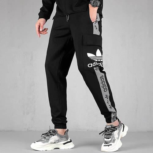 해외 남녀공용 아디다스 스포츠웨어 오리지날 트레포일 조거팬츠 슬림팬츠 트랙팬츠 아디다스 아디다스 클로버 팬츠 남성 9 점 캐주얼 바지 느슨한 얇은