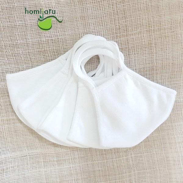 호미자루 국내 제조 마스크 100% 면마스크 흰색 소형 5매, 1개, 5매입