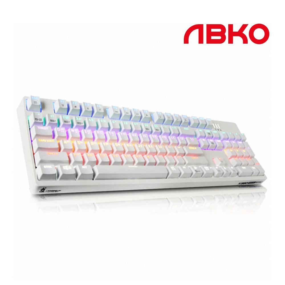 앱코 HACKER K660 축교환 완전방수 게이밍 기계식 유선키보드, 화이트클릭