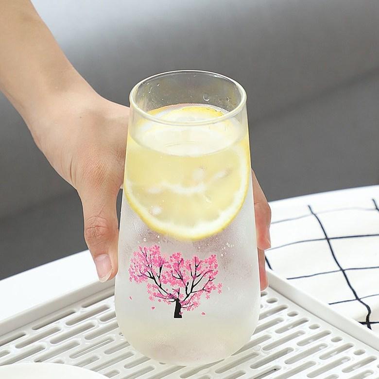 꽃피는술잔 술따르면꽃피는술잔 일본식 벚꽃컵 벚꽃잔, 멋진 사쿠라 컵 롱 스타일