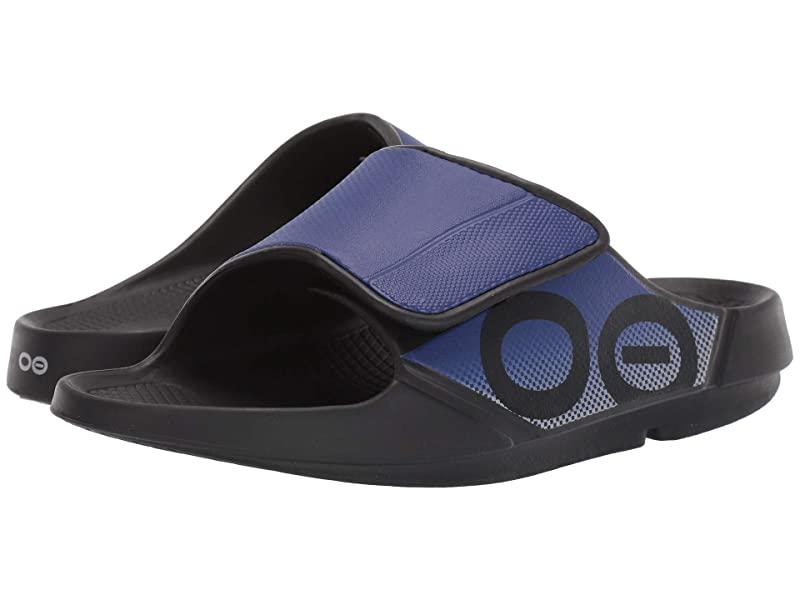 [미국정품] 341986 우포스 남성 슬리퍼 OOFOS OOahh Sport Flex - Black/Sapphire