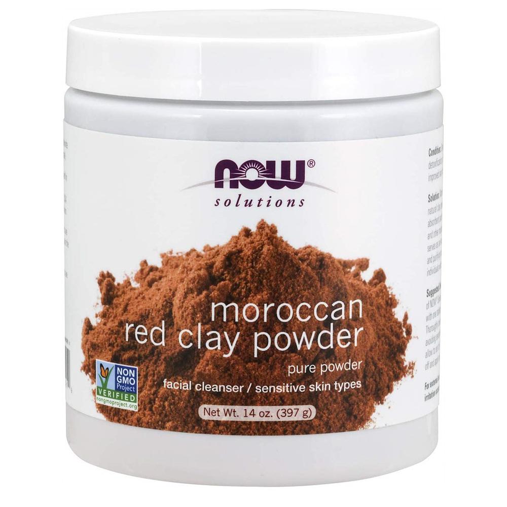 Now Foods 나우푸드 모로칸 레드 클레이 파우더 마스크 14oz(397g) Solutions Moroccan Red Clay Powder, 1개