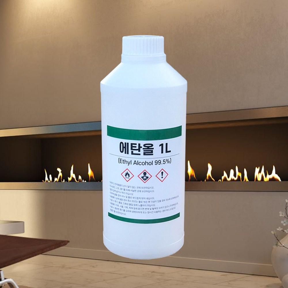 효코퍼레이션 에틸알코올 99.5% 1L 식물성 바이오 에탄올 소독용 무수에탄올 알콜 불멍 난로, 1개