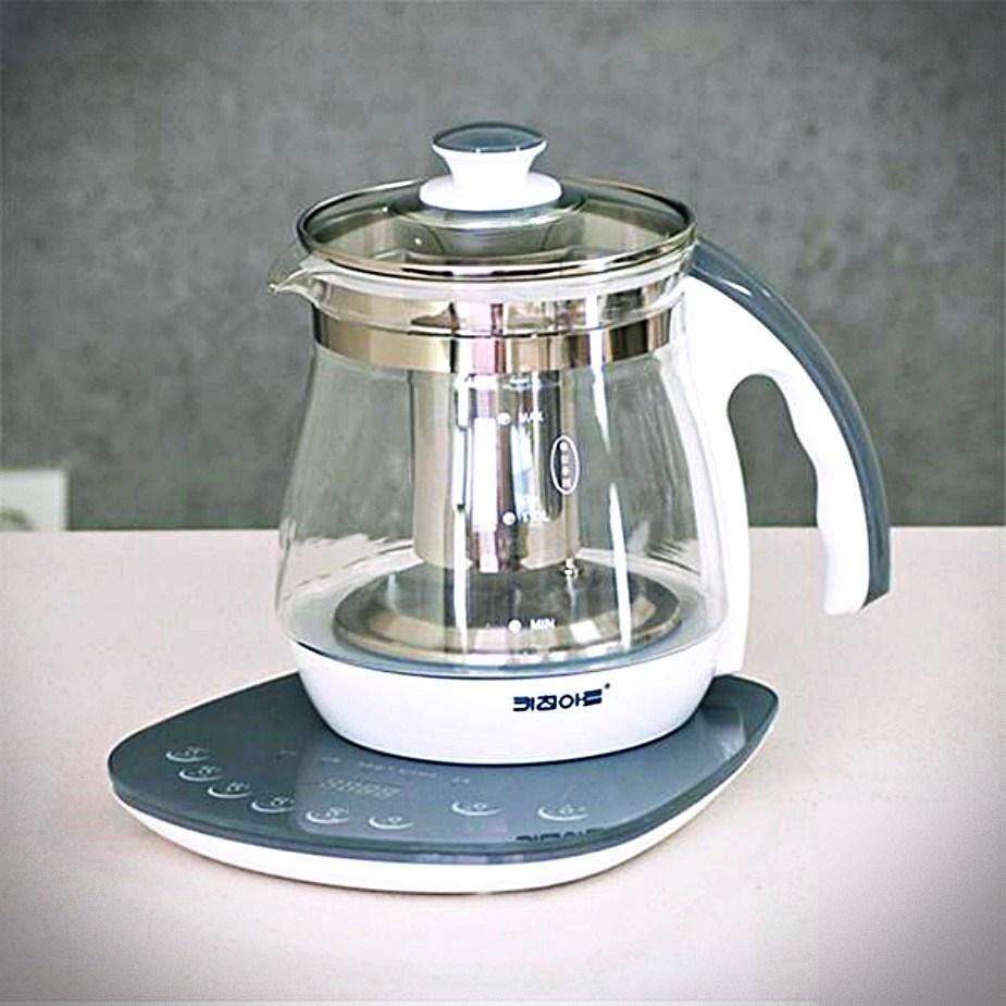 제이피샵 분유 커피 전기 포트 메이커 티포트 라면포트 전기주전자, 2개