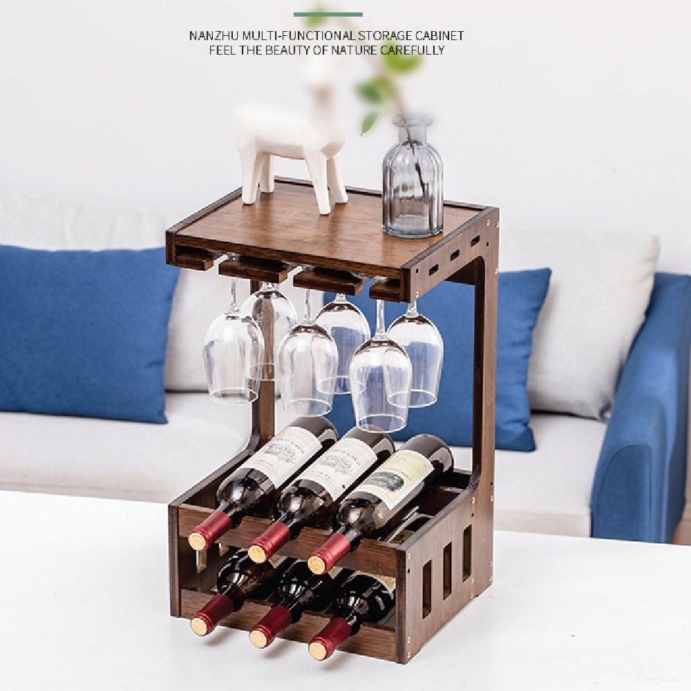 Yipin Jiaju 우드와인렉 와인잔거치대 와인보관 와인랙, 1세트, 우드와인랙