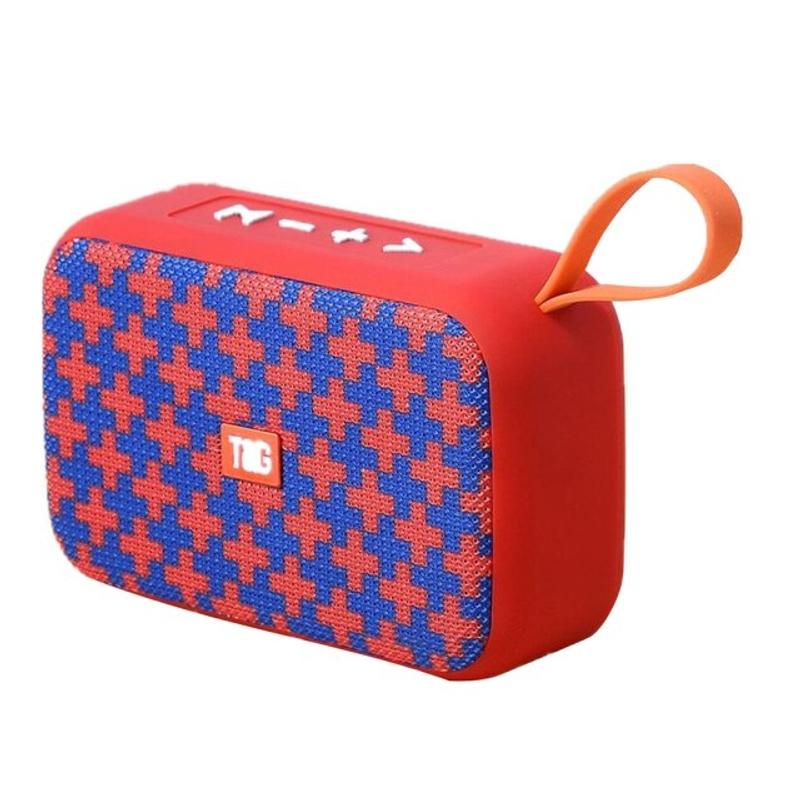 TG506 블루투스 스피커 미니 소형 휴대용 스피커 무선 사운드 바 야외 HIFI 서브 우퍼 스피커 지원 TF 카드 FM Aux, 협력사, 레드 2