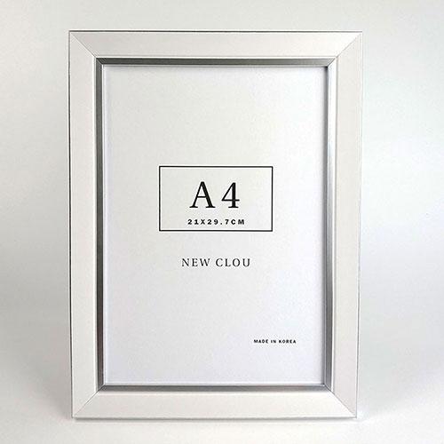 뉴클루 프리미엄 A4사이즈 벽걸이 액자 프레임, 화이트