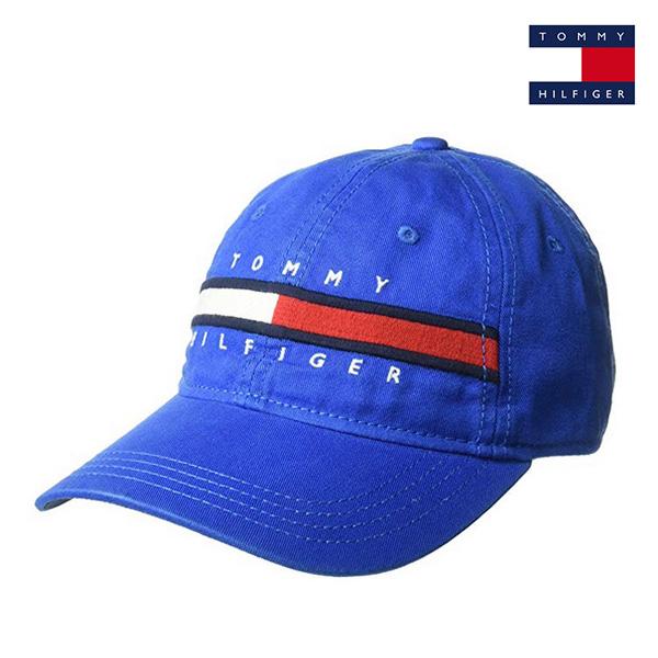 타미힐피거 에버리 볼캡 모자 블루