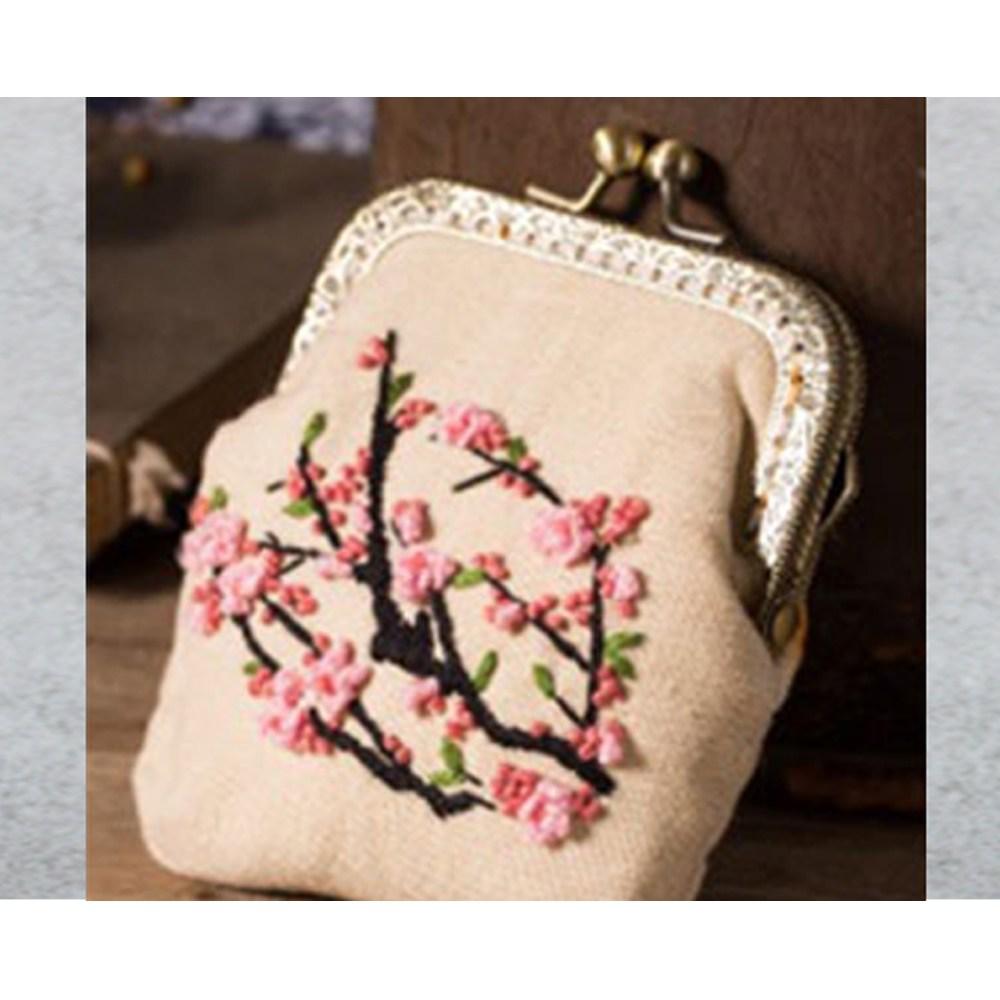 [제이제이오피스] 프랑스자수 DIY, 1개, 26.복숭아지갑