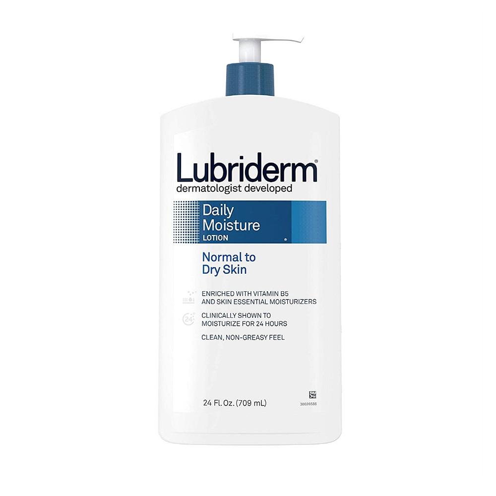 (번들) 루브리덤 데일리 모이스처 로션 중성 건성용 709ml 2개 Lubriderm Daily Moisture