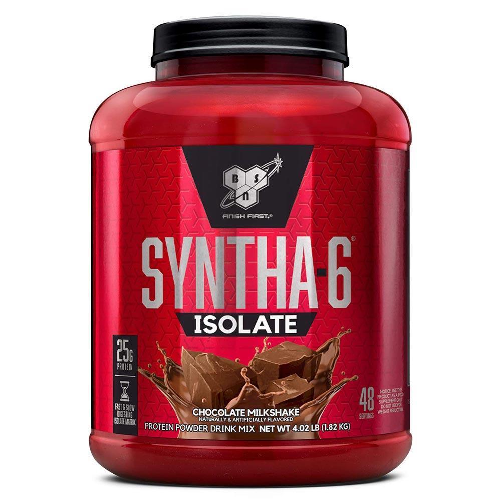 BSN 신타6 아이솔레이트 4.02파운드 초코렛 밀크쉐이크 맛 Syntha6 Isolate 4.02lbs, 1개