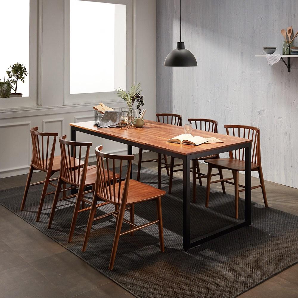 보니애가구 멀바우 원목 2~8인용 테이블 식탁세트 시리즈, 테이블1200용 벤치(1000x350)