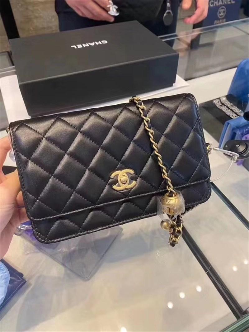 구매 가방 20 새로운 금 구슬 조절 체인 WOC 어깨 메신저 가방 여성 가방