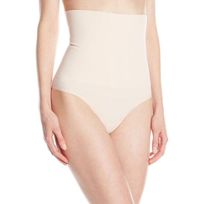 Yummie Women 's Danielle High Waist Shape Thong Naked Large / X-Large at Amazon Women 's Clothing store