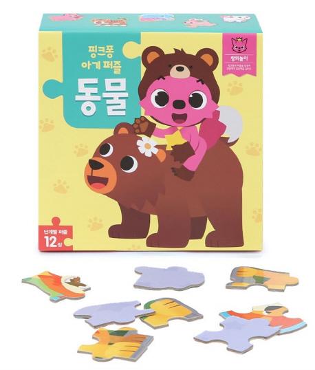 핑크퐁 아기 퍼즐: 동물, 스마트스터디